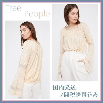 Free People★Bonjour Bell Sleeve Tee ベルスリーブ 国内発送