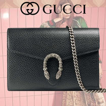 GUCCI Dionysus Leather Mini Chain Shoulder Bag
