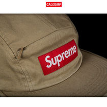 Supreme(シュプリーム)FRONT PANEL ZIP CAMP CAP/ TAN
