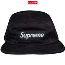 Supreme(シュプリーム)FRONT PANEL ZIP CAMP CAP/BLACK