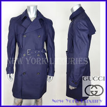 GUCCI★グッチ★素敵!NAVY DOUBLE BREASTED TRENCH COAT Sz.58