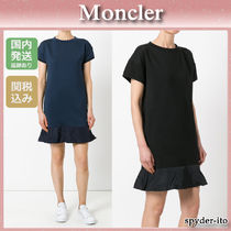 17SS★送料/関税込【Moncler】 人気の異素材MIXワンピース♪ 2色