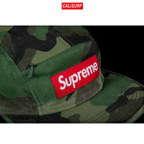 Supreme(シュプリーム)FRONT PANEL ZIP CAMP CAP/WOODLAND