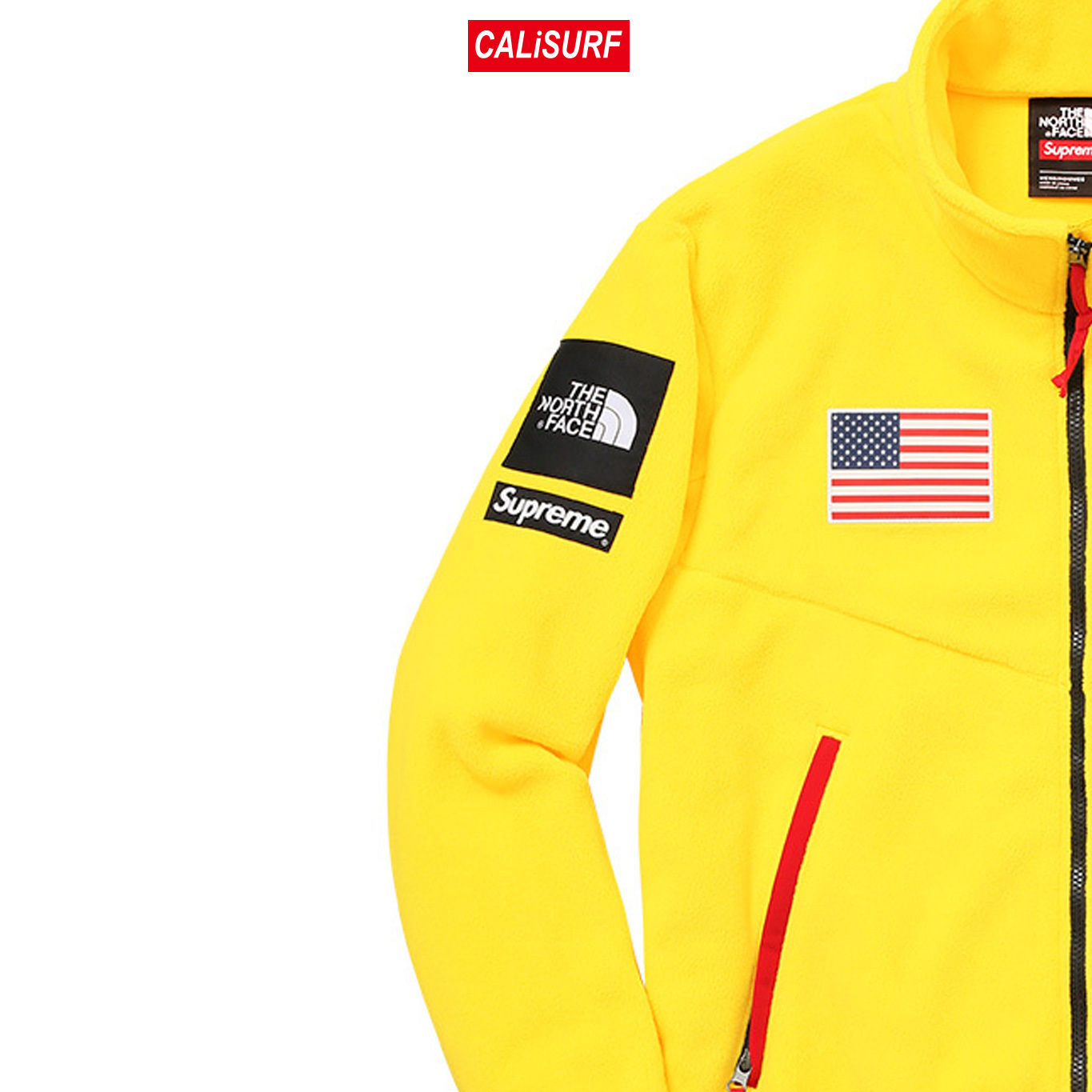 大人気コラボ☆S Supreme x TNF Gore Tex Fleece Jacket/Yellow
