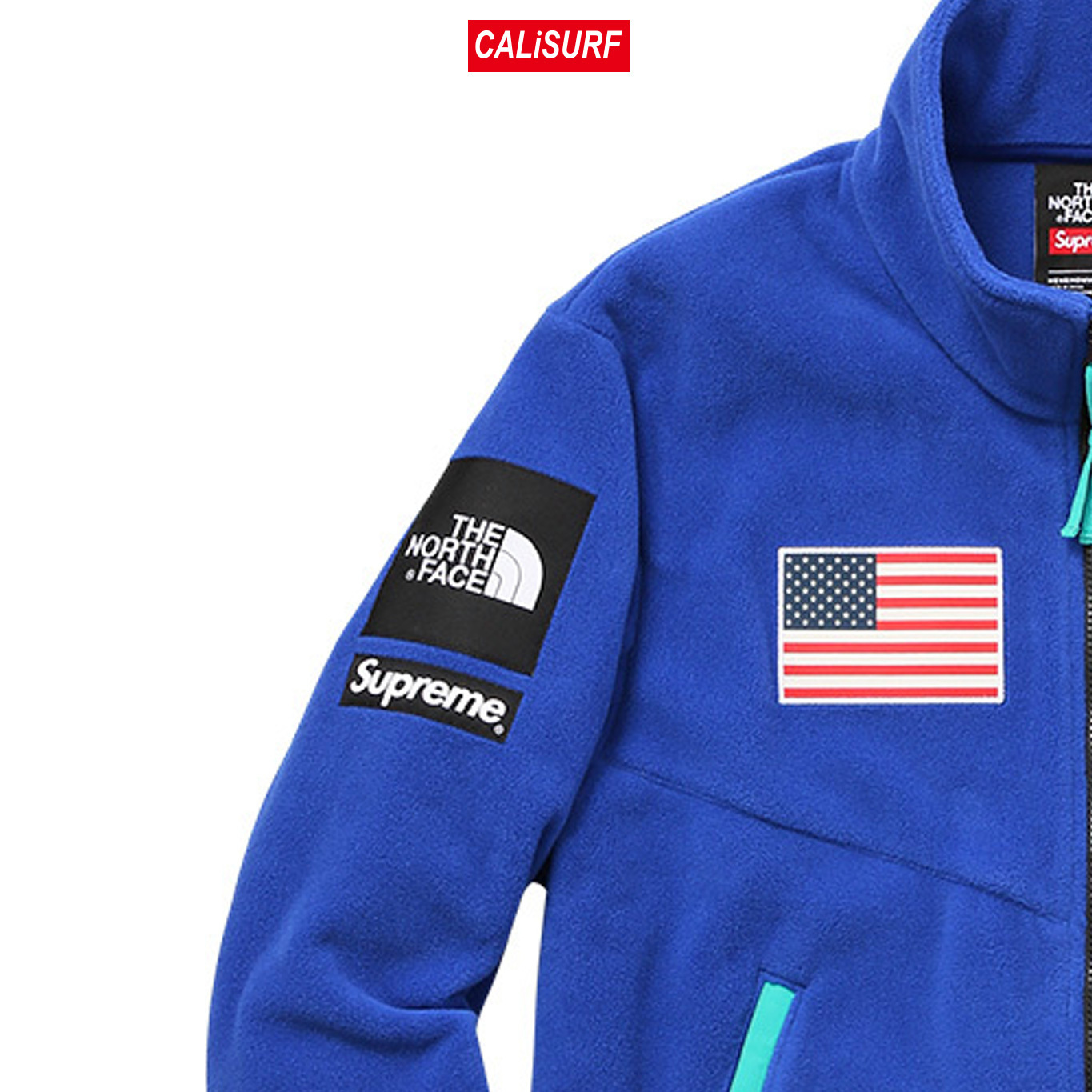 大人気コラボ☆L Supreme x TNF Gore Tex Fleece Jacket/BLUE
