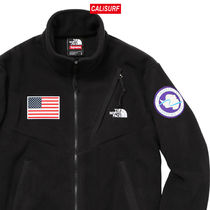 大人気コラボ☆M Supreme x TNF Gore Tex Fleece Jacket/BLACK