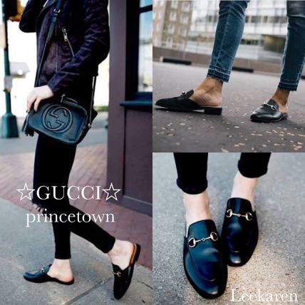 GUCCI classic popular Proterozoic leather slippers and