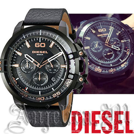 ★NEW★DIESEL Deadeye Black Dial Chronograph DZ4409