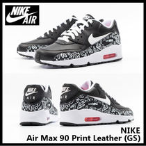 【NIKE ナイキ】Air Max 90 Print Leather (GS) 844616-001