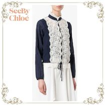 【17SS】大人気★SEE BY Chloe★embroidered blouse