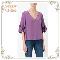 【17SS】大人気★SEE BY Chloe★frilled sleeve top