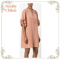 【17SS】大人気★SEE BY Chloe★frill sleeve dress