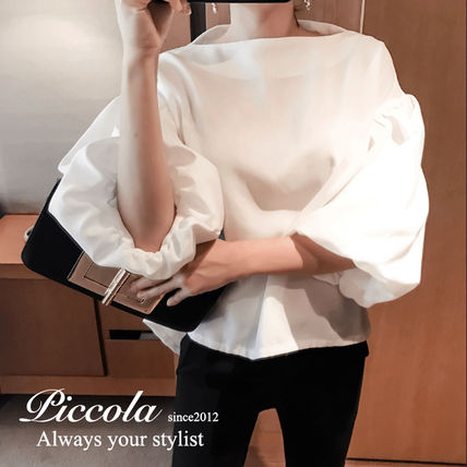 ♦ PICCOLA ♦ volume balloon sleeves combrowse / 3 color