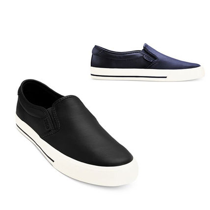 Polo Ralph Lauren mens Leather Slip-on shoes