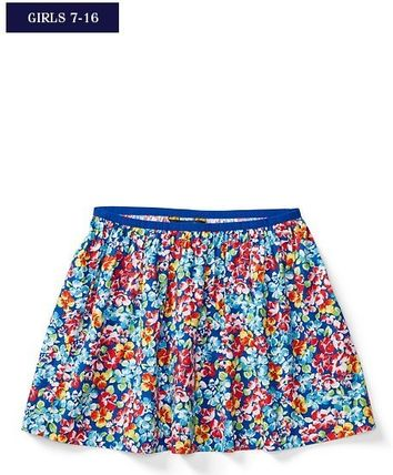 新作!大人もOK♪ FLORAL TWILL PULL-ON SKIRT girls 7~16