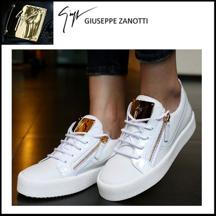 5-10 day delivery 17SS GIUSEPPE ZANOTTI Gold logo sneakers