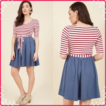 Modcloth☆人気ワンピ*In the Very Near Twofer Stri