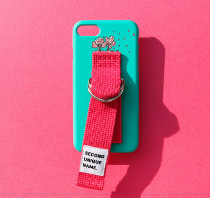SECOND UNIQUE NAME スマホケース・テックアクセサリー ◆SECOND UNIQUE NAME◆SUN SUN CASE OPAL DEEP PINK (4)