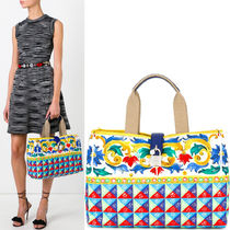 17SS DG1111 MANBO PRINTED DOLCE SHOPPING TOTE