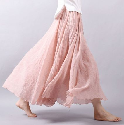 A selection of 12 color cool fancy resort mood linen flare