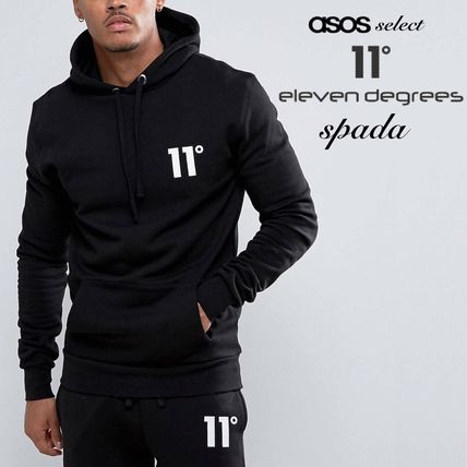 SALE 11 Degrees logo Hoodie black /