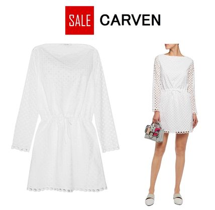 CARVEN ワンピース ☆SALE☆CARVEN Broderie anglaiseコットンミニドレス