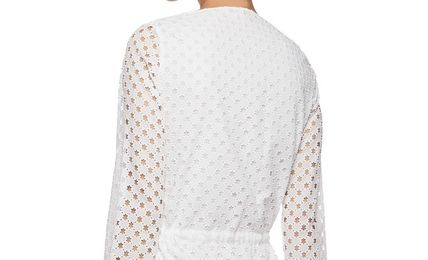 CARVEN ワンピース ☆SALE☆CARVEN Broderie anglaiseコットンミニドレス(5)