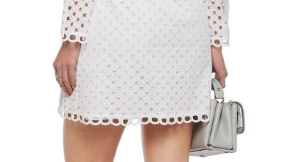 CARVEN ワンピース ☆SALE☆CARVEN Broderie anglaiseコットンミニドレス(6)