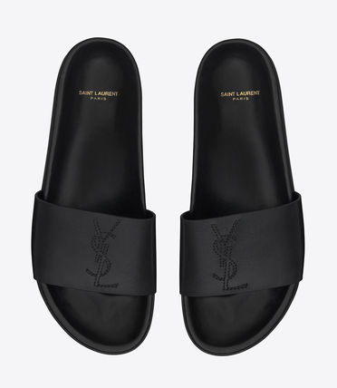 【関税負担】 SAINT LAURENT JIMMY 20 SANDAL BLACK