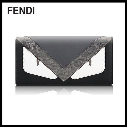 FENDI MONSTER BUGS long wallet 7 m 0186