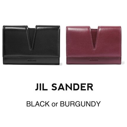 Jil Sander cut out leather wallet