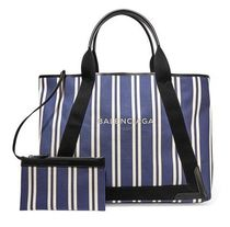 ★関税負担★BALENCIAGA ★CABAS STRIPED CANVAS TOTE
