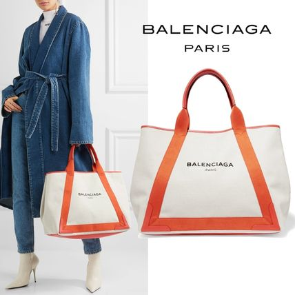 BALENCIAA NAVY for CABAS canvas tote M Pouch with