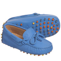 TOD'S(トッズ) フォーマルシューズ ★TOD'S★Blue Leather 'Gommini' Moccasin Shoes