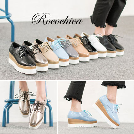R C CHICA 9-type NEW lace up, platform shoes