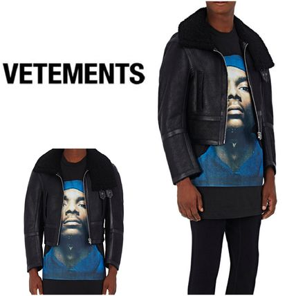 Limited time SALE and VETEMENTS leather jacket
