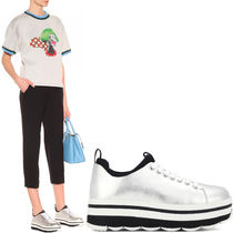 PR508 LACE UP SNEAKERS WITH WAVY RUBBER TREAD SOLE