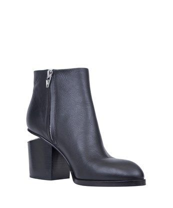☆国内発☆Alexander Wang/Black leather ankle boots