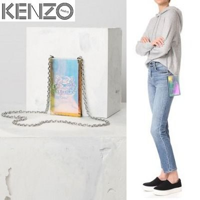 KENZO hologram Tiger Smartphone Pouch