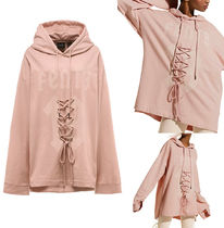 Fenty by Rihanna : LONG SLEEVE GRAPHIC FRONT LACING HOODY