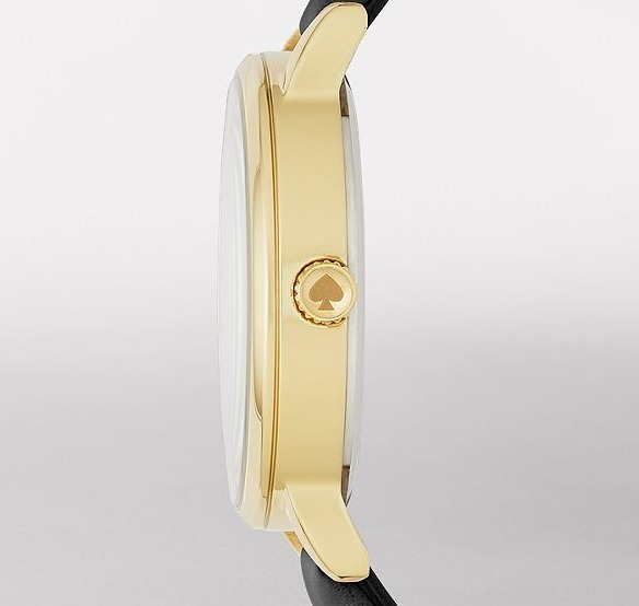 【限定セール☆】Kate Spade black leather / gold metro watch