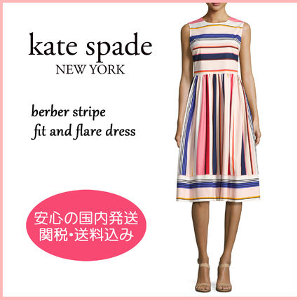 【国内発送】berber stripe fit and flare dress セール