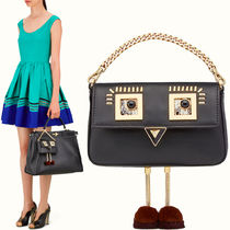 FE1472 'GOLD EDITION' FENDI FACE MICRO BAGUETTE