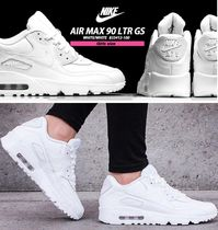 "☆NIKE☆Air Max 90 LTR GS""Triple White""【送料込】22.5~24.5cm"