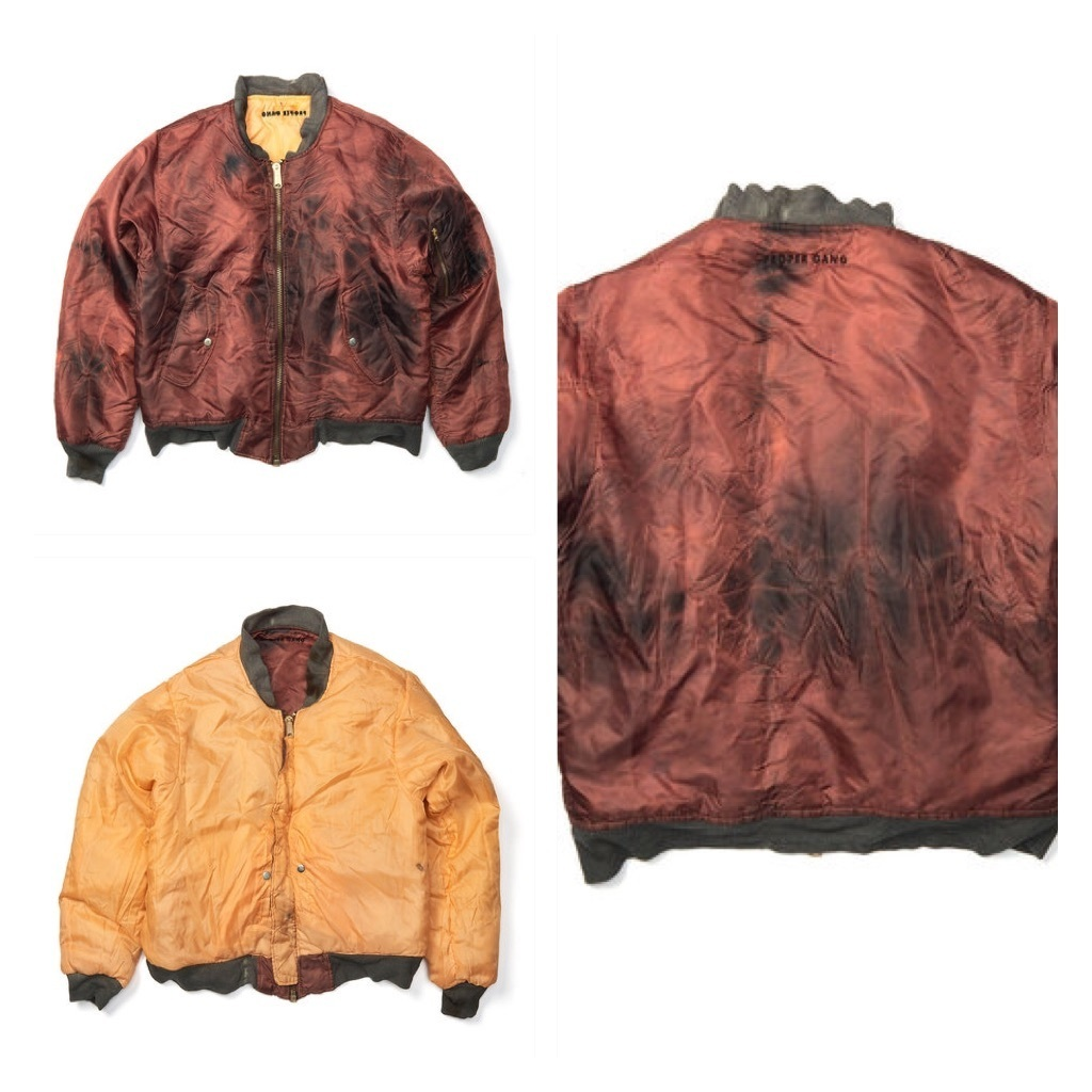 SupremeデザイナーBR 「Proper Gang」Washed MA-1 Bomber Jacket