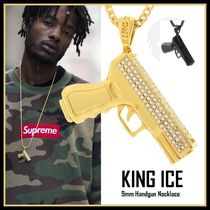【King Ice】9mm Handgun Necklace★Gold/Black★送料税込/国内