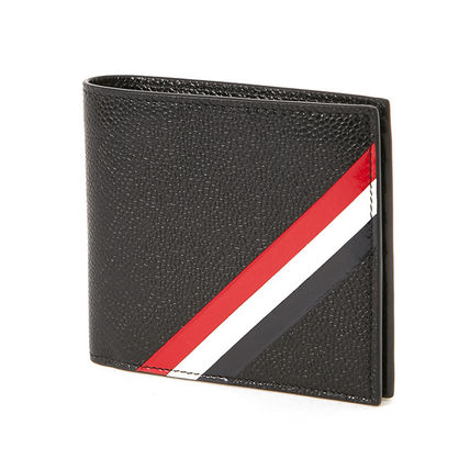 Thom Browne 17 SS 3LINE GRAIN LEATHER bifold wallet _BLACK