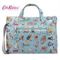 ☆Cath Kidston☆OPEN CARRYALL W/STRAP DOGS DUSTY BLUE☆