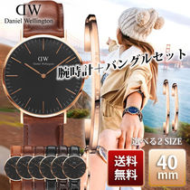 Daniel Wellington Classic Black 40mm Rose Gold バングル