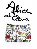 2017SS激かわ♪Stace Face Cotton Canvas Pouch☆Alice+Olivia